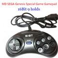 New 1pcs MD SEGA 16bit Game controller Sega Genesis Gamepads 9 Holes Sega Joypad High Quality Free Shipping
