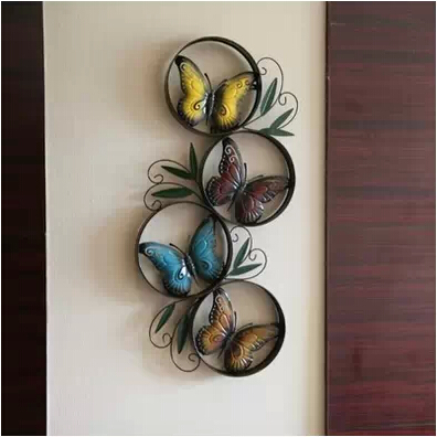 European Style Colorful Erfly Metal Wall Art Home Decoration Crafts Vintage Decor Express