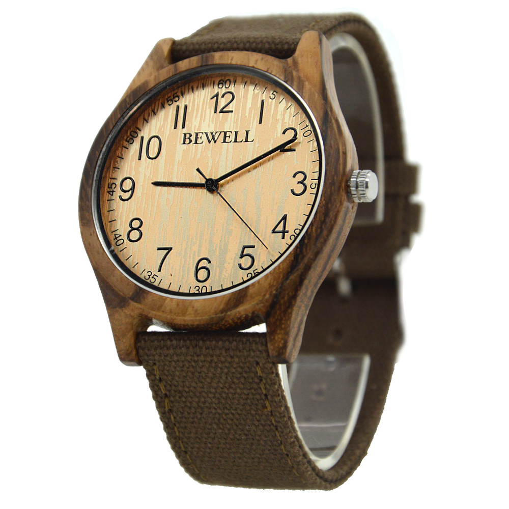BEWELL Bamboo Wood Watch Analog Digital For Men 62
