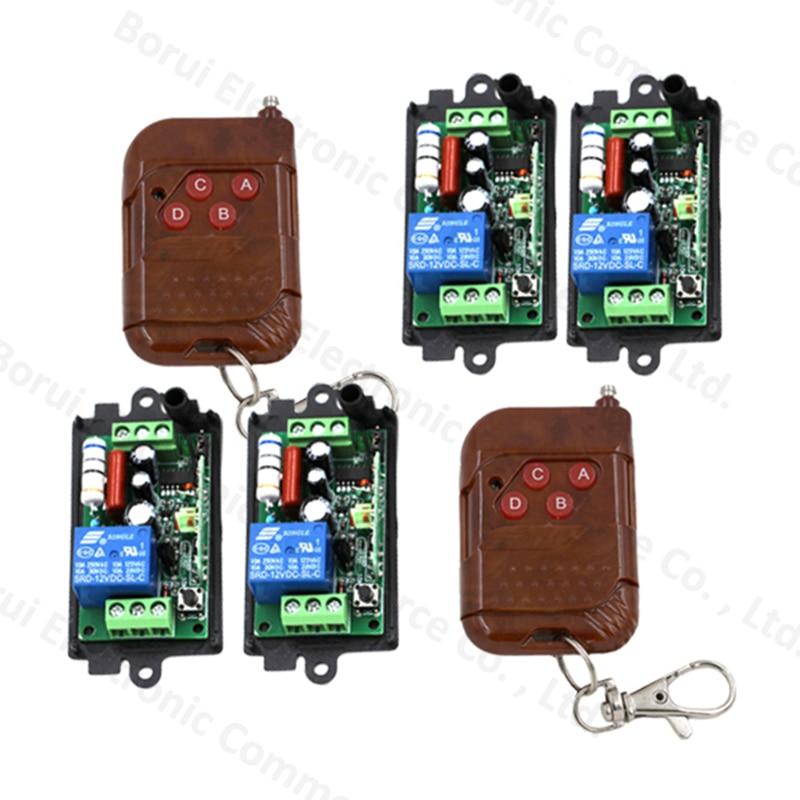 220V 110V 1CH 10A Receiver Transmitter RF Wireless Remote Switch Teleswitch Remote Plug Free Shipping ac220v 1ch 10a rf wireless remote control switch system teleswitch 1 transmitter