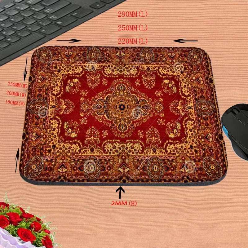 DIY2017ホット赤いペルシャカーペット印刷滑り止め長方形耐久性コンピュータマウスパッド、を飾るあなたの机デザインとしてギフト
