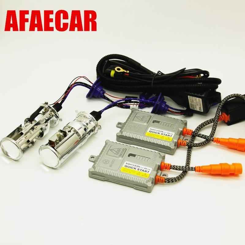 AFAECAR 55 W AC 12 V H4 MINI lentille HID xénon phare projecteur lumière phare H4