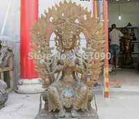 Xd 00659 Enorme Tíbet Budismo Fane Clásicos Amitabha Bronce Maitreya kwan-yin estatua de Buda