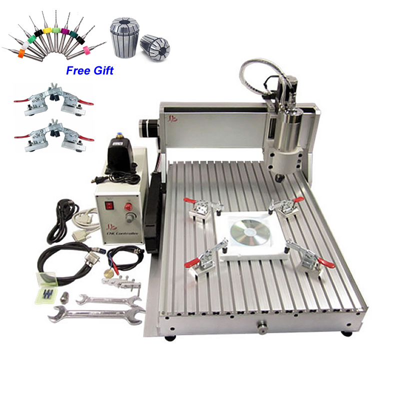2200W Mini CNC Router 6040 3 Axis 2.2KW Metal Stone Milling Machine