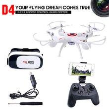 RC Drone con Cámara HD 0.3MP/2.0MP Quadrocopter FPV RC Quadcopter 2.4 Ghz Racing Dron Helicóptero de Control Remoto Juguetes Dwi D4