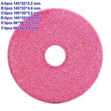 5 pçs qualidade moagem disco 145/105 /90mm grosso 3.2 / 4.8mm para motosserra dentes afiar abrasivo pedra diâmetro moedor