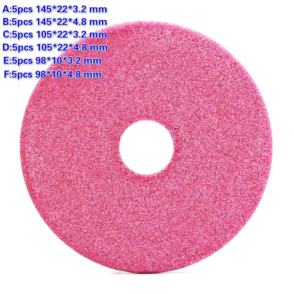5 pcs Qualité Meule Disque 145/105/90mm Épais 3.2/4.8mm pour Tronçonneuse Affûtage Des Dents Abrasif pierre Dia Broyeur