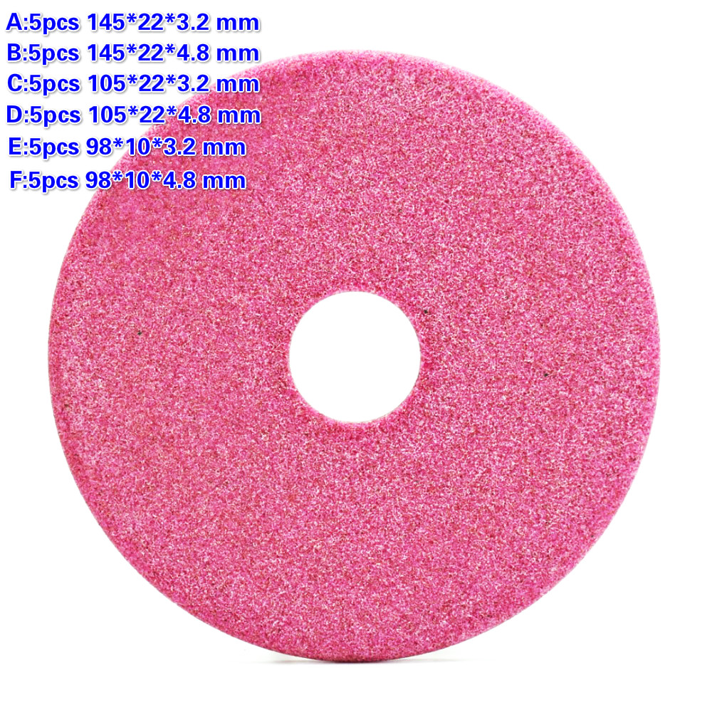 5Pcs Quality Grinding Wheel Disc 145/105 /90mm Thick 3.2 / 4.8mm For Chainsaw Teeth Sharpening Abrasive Stone Dia Grinder