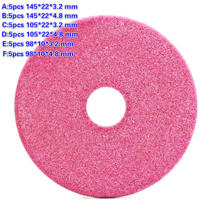 Image 1 - 5Pcs Quality Grinding Wheel Disc 145/105 /90mm Thick 3.2 / 4.8mm for Chainsaw Teeth Sharpening Abrasive Stone Dia Grinder