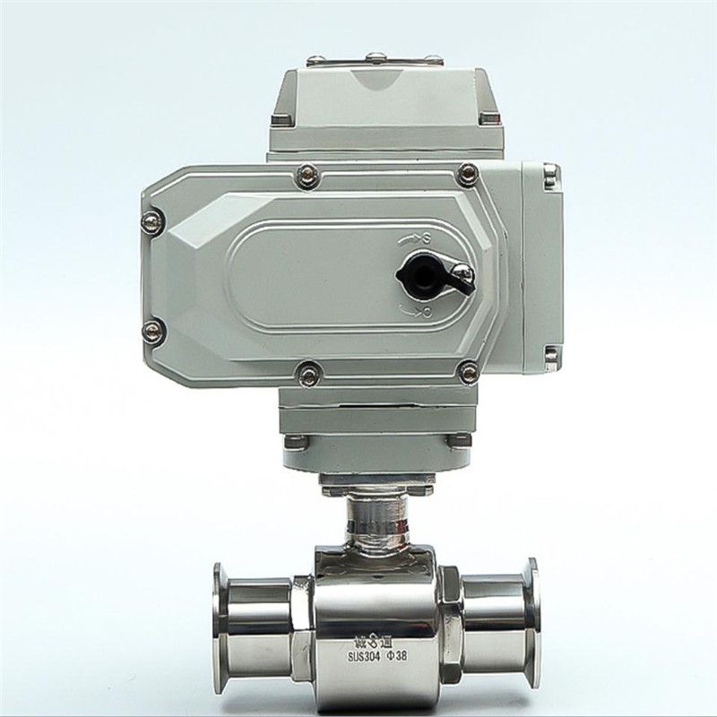 Stainless steel electric ball valve sanitary grade Q981F clamp type pneumatic fluoroplastic F fast loading ball valve in Valves Parts from Automobiles Motorcycles