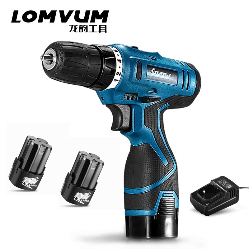 Electric Cordless Screwdriver with TWO Rechargeable Lithium Battery Power Tools Electric Drill Multi-function 16.8V 25VDIY