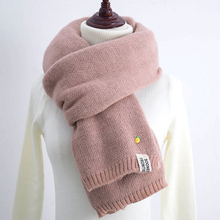 Winter Scarf Women 2017 Pineapple Scarf Female Winter Thick Long Double-sided Pure Color Knit Scarf Warm Collar