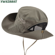 купить Summer Women Sun Hats Women Bucket Hat Men Fisherman Hat Wide Large Brim Anti-UV Holiday Seaside Beach Cap Fashion Mesh Sun Cap онлайн