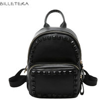 BILLETERA Casual Design Luxury New PU Leather Backpacks Women Fashion Travel Backpacks FemaleSmall Women Backpacks