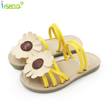 Childrens girls sandals and slippers for summer shoes baby girl flower cheaper flat toddler 2-12Y