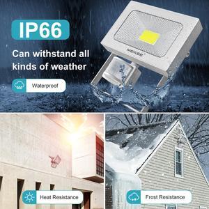 Image 3 - 10W 20W 30W 50W LED Flood Light with Motion Sensor AC110V 220V LED Floodlight Waterproof Outdoor Spotlight for Garden