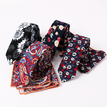 Novelty New Multicolor Printing Cotton Tie Pocket Cloth Suit For Student Office Worker Suit Shirt Accessories British Style