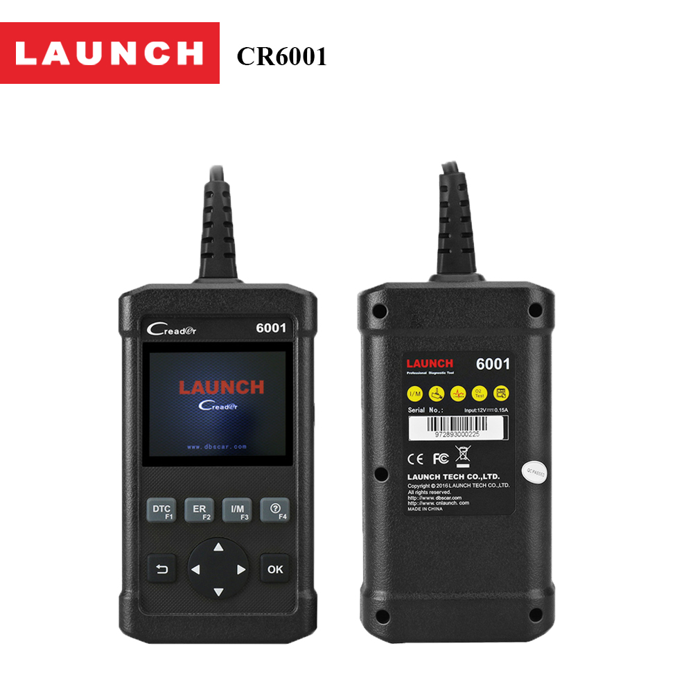 Official Launch CR6001 obd2 board system car/auto diagnostic scanner with Prints data via PC automotive scanner adapter