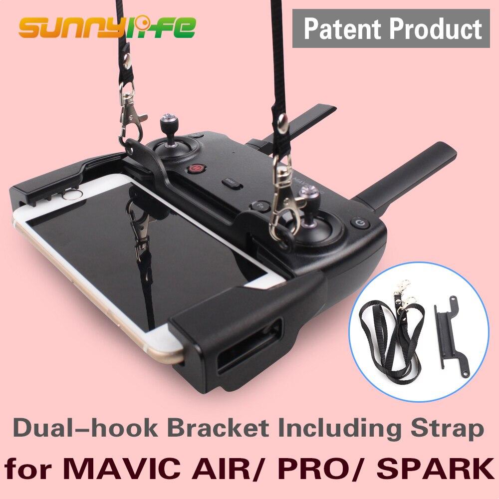 Dual-hook Bracket Including Strap for DJI MAVIC AIR/ MAVIC PRO/ Mavic 2/SPARK Remote Controller Neckstrap Drone Accessories