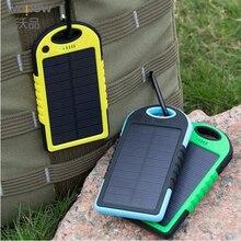 wopow Hot Waterproof Solar Power Bank 5000mAh Portable Charger Travel Enternal Battery Powerbank for Xiaomi Iphone 5S  Sumsang