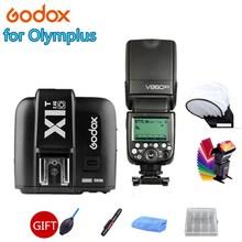 Godox V860IIO V860II-O Kamera Flash Speedlite 2,4G Wireless X System TTL HSS Li-on Batterie + X1T-O Trigger für Olympus Kameras