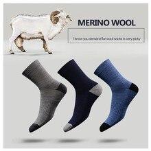 Mann Frau Merino Wolle socken Winter Warme verdickung socken Beste qualität 3 pairs ein los wolle aus Australien