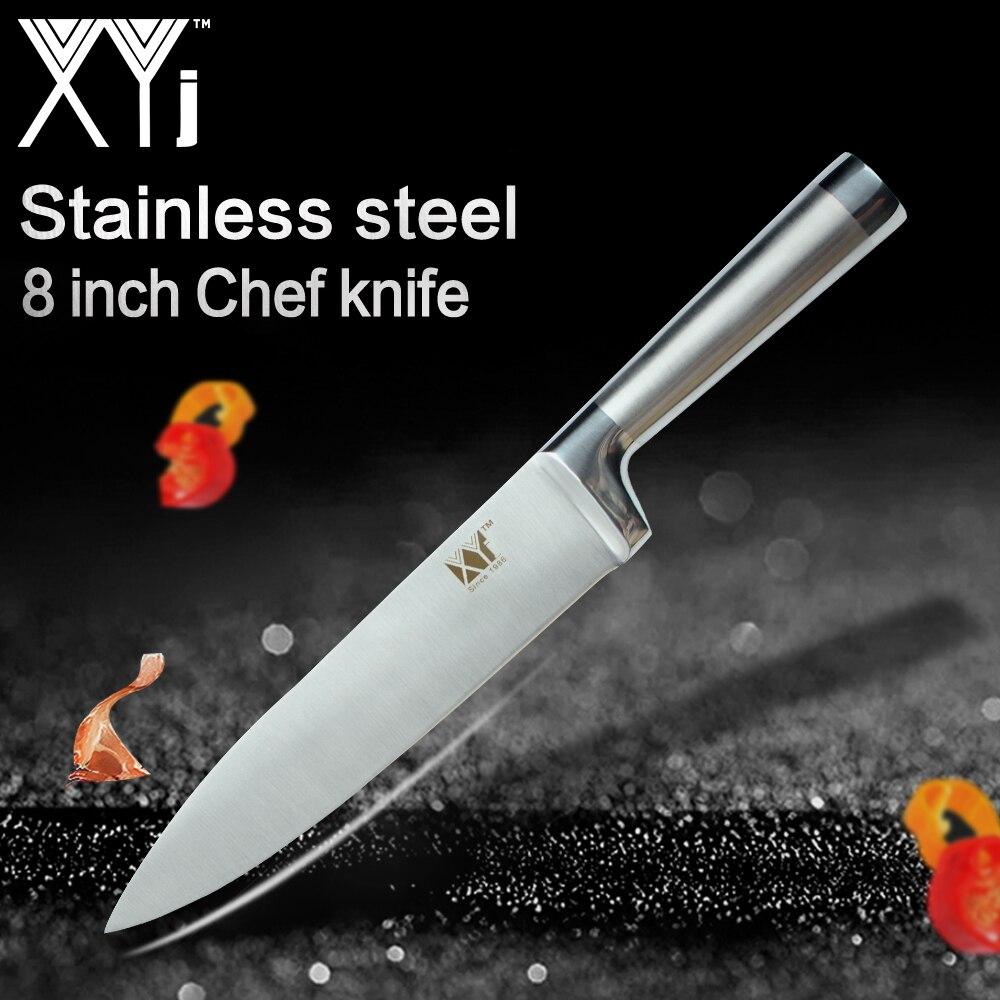 XYj Unique Cuisine Couteaux À Éplucher Utilitaire Santoku Chef Trancher Le Pain Droite En Acier Inoxydable Couteaux Nouvelle Année Cuisson Outils