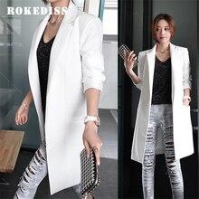 ROKEDISS 2017 Women Jacket Long Sleeve Feminina Suit blazer Blazer Women's Casual Blazer Mujer Plus Size Blazer Feminino Jackets