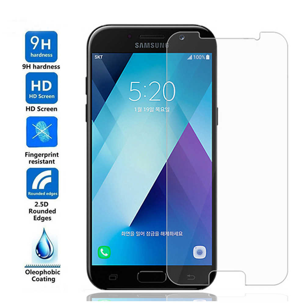 9H Tempered Glass on For Samsung Galaxy J4 J6 J8 2018 Screen Protector HD Film For Samsung A6 A8 Plus A7 2018 Protective Glass