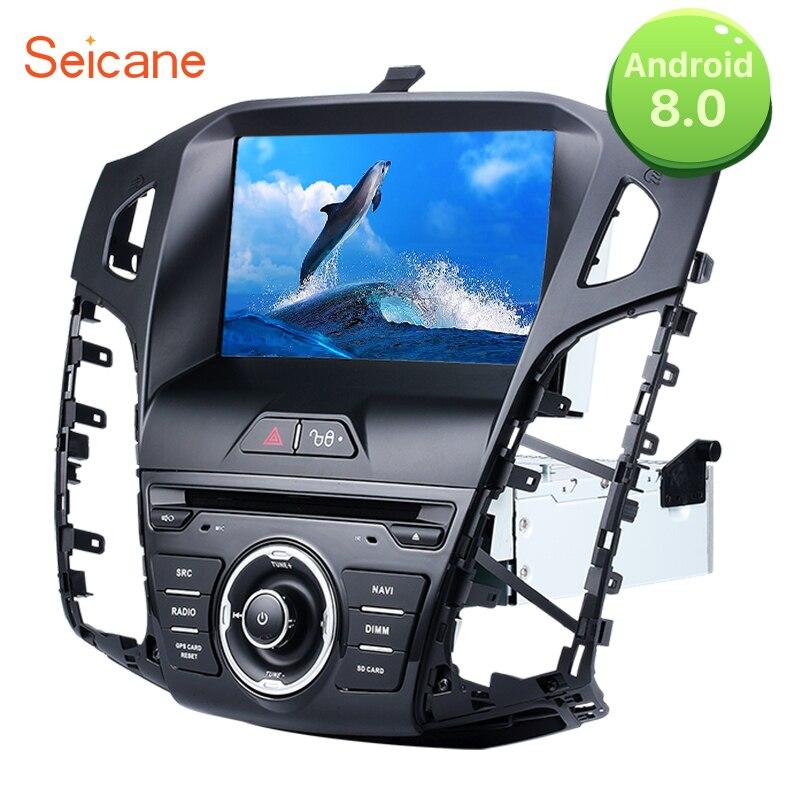 Seicane Double Din 8 Android 8.0 GPS Unité de Tête De Voiture FM Radio Lecteur DVD pour 2011 2012 2013 Ford focus avec WIFI soutien OBD DVR