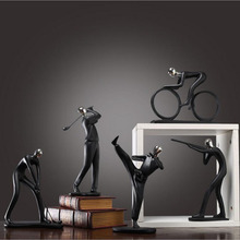Nordic simple modern black sports figure model ornaments home decorations study living room personality furnishings