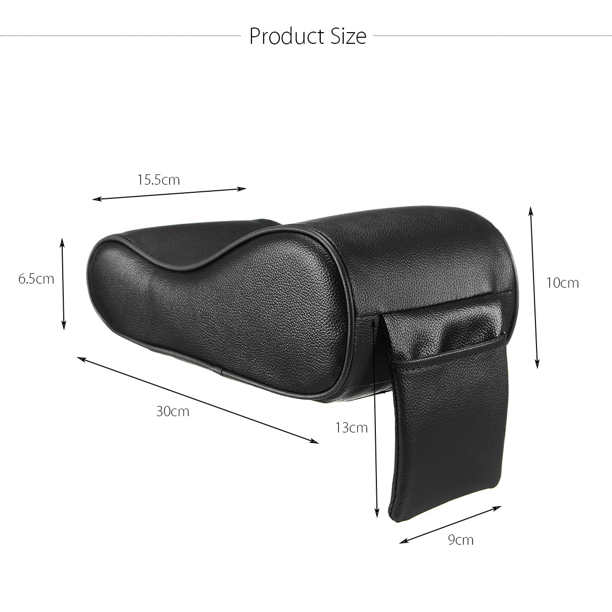 Image 4 - Autoleader PU Leather Car Armrest Pad Universal Auto Armrests Car Center Console Arm Rest Seat Memory Foam Rest Pillow Armrest-in Armrests from Automobiles & Motorcycles
