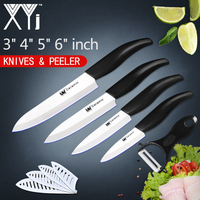 XYj High End Kitchen Ceramic Knives Set 3 4 5 6 Inch Paring Utility Slicing Chef