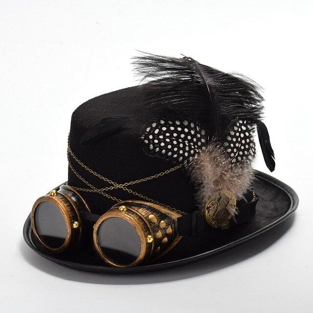 Шляпа в стиле Стимпанк с очками в ассортименте 5