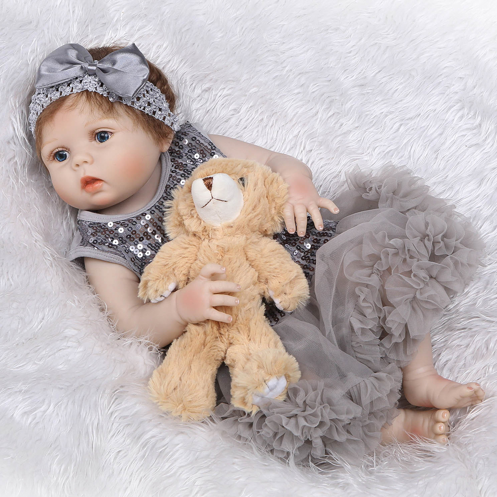 NPK new dolls reborn 55cm Silicone Reborn Baby Doll Toys With Bear Pacifier Luxury Accessories bebe dolls boneca Birthday GiftNPK new dolls reborn 55cm Silicone Reborn Baby Doll Toys With Bear Pacifier Luxury Accessories bebe dolls boneca Birthday Gift