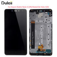For Xiaomi Redmi Note 4 Screen And Digitizer Assembly OEM Frame Replace Part Not OEM