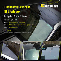 Carbins 0.16mm thick roof vinyl sticker for car wrap, high gloss black top quality!