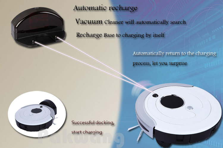 Intelligent A380 Robot Vacuum Cleaner Low noise Long working time  Auto Recharge brush Vacuum Cleaner for home Robotic Aspirador