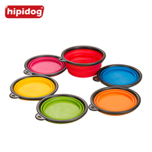 Hipidog Silicone Fording Pet Dog Feeding Bowl Collapsible Cats Water Dish Cat Portable Feeder Puppy Travel Bowls 1 Piece