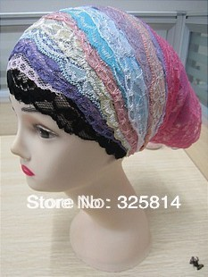 Promotion!!! Fashion Scarf,Lace Innner Hat,Islamic Underscarfs,Cheap Muslim Hijab Sssorted Colors Free Shipping