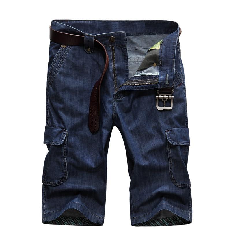 30 Grande Blue Bleu Zipper Occasionnels Multi De 2018 Shorts Denim 42 Courts Hommes 753 Nouvelle Icpans Jeans Dark 753 D'été Lâche poche Cargo Blue Light Taille x4FOFqa