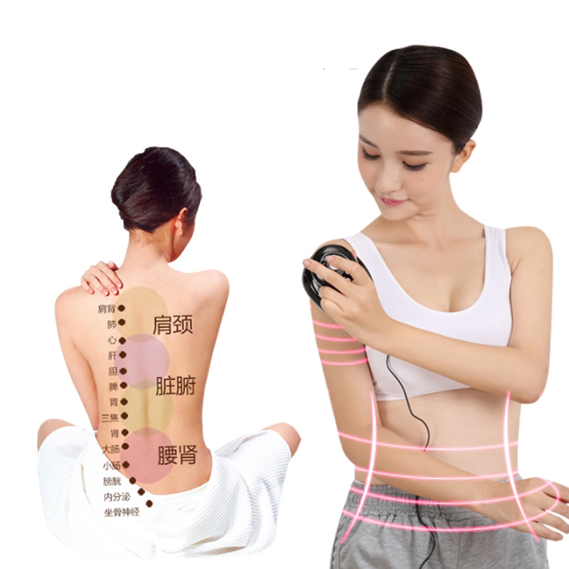 BIO microcurrent Meridian Scrape Therapy,Infrared body Detoxification massage comb Electronic acupuncture slimming Device green sandalwood combed wooden head neck mammary gland meridian lymphatic massage comb wide teeth comb