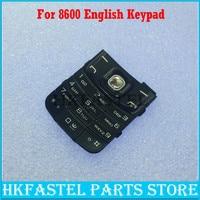 HKFASTEL Nova Capa original Para Nokia 8600 Luna Telefone Celular Habitação Inglês Teclado Caso Capa de Reposição de Peças