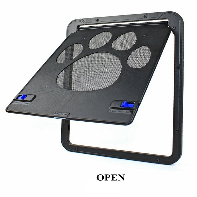 Pet Door New Safe Lockable Magnetic Screen Door For Dogs Cats Window Gate For Pets Freely Fashion Pretty Pattern Easy Install