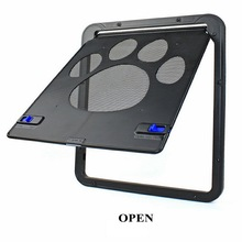 Pet Door New Safe Lockable Magnetic Screen Outdoor Dogs Cats Window Gate House Enter Freely Fashion Pretty Garden Easy Install