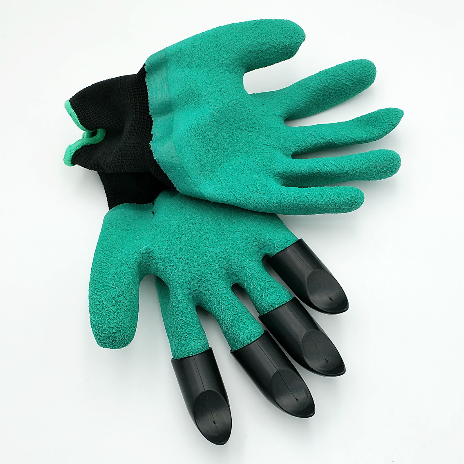 Brand New Rubber+Polyester Safety Work Gloves Builders Grip Gardening Dig Hot ...