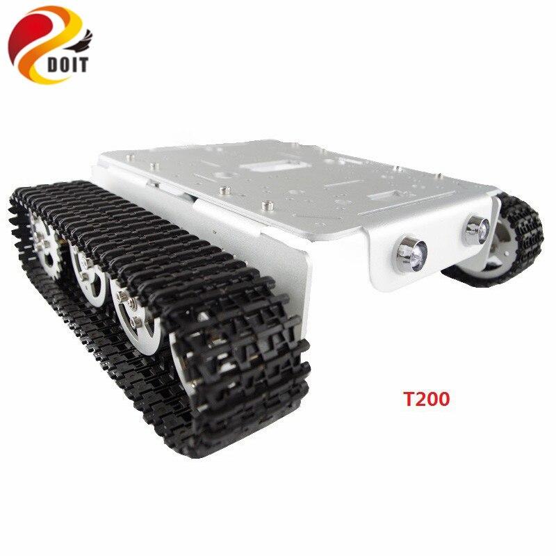 T200 Metal Tank Car Chassis Crawler Plataforma Com Trilha Da Roda Pedrail Lagarta Dupla DC Motor Para Arduino DIY RC brinquedo
