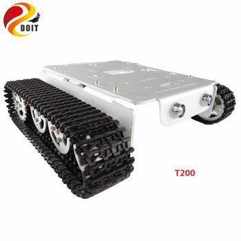 T200 Metal Tank Car Chassis Frame Crawler Pedrail Platform With Wheel Track Caterpillar Dual DC Motor For Arduino DIY RC Toy