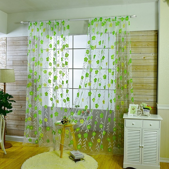 wholesale window curtains for children 39 s room flowers Tulles Curtains for Living Room sheer curtains for Bedroom Kitchen in Curtains from Home amp Garden