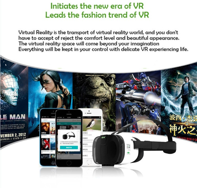 FIIT VR 3D Virtual Reality Video Helmet Cardboard 2.0 VR Glasses Box for 4.0-6.5 inch Smartphone Lightweight Ergonomic Design (2)